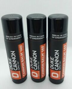 3 pack - Duke Cannon Cannon Balm 140° Tactical Lip Protectant 0.56 oz ea **NEW**