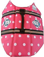 PAWS ABOARD DOG LIFE JACKET  PINK POLKA DOT, SIZE SMALL , GENTLY USED.
