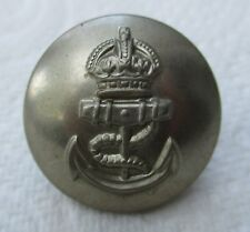"British:""ROYAL NAVY WHITE METAL BUTTON"" (Large, 25mm, For Tropical Tunic, Gaunt)"