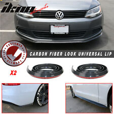 2PC 100 In Universal Bumper Lip Side Skirt Extension Splitter Carbon Fiber Look