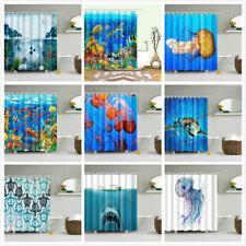 Ocean Coral Tropical Fish Turtle Shower Curtain Waterproof Fabric Bathroom Decor