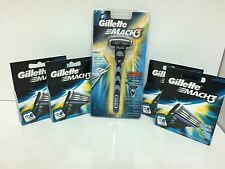 Gillette Mach3 Razor Blades Cartridges 4pk of 4ct Total of 1 Razor & 17  Blades