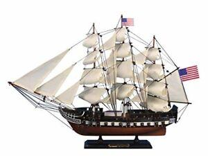 "Hampton Nautical Wooden USS Constitution Tall Model Ship, 24"""