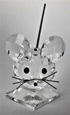 New ListingRetired Swarovski Austrian Crystal Large Mouse # 7631 Signed Art Glass Figurine
