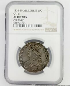 NGC 1832 Small Letters 50 Cent Half Dollar American Silver Coin