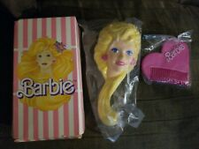 """VINTAGE Avon """"I'm Into Barbie"""" Hairbrush & Comb Grooming Set new in original box"""