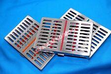 GERMAN 3 Dental Sterilization Cassette Rack Tray Box For 10 Surgical Instruments