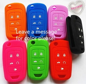 SILICONE 5 BUTTONS FLIP KEY COVER fits CHEVROLET HOLDEN VF COMMODORE