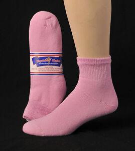 3, 6 or 12 Pair Men's Women's Diabetic Cushioned Ankle 1/4 Quarter Socks Sizes