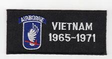 173rd Airborne Vietnam - Unit & Date Patch BC Patch Cat No L224