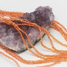100 pcs 3x2mm Chinese Crystal Glass Beads Faceted Rondelle Orange Citrine AB
