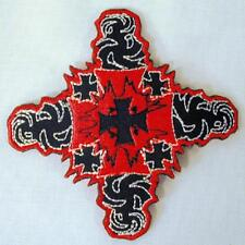 IRON CROSES EMBROIDERED PATCH P189 iron on sew biker JACKET patches NEW CROSS