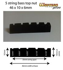 5 string bass black top nut 46 x 10 x 6mm - UK SUPPLIER
