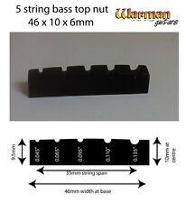 5 Cordes Guitare Basse Noir Top Nut 46 x 10 x 6 mm-UK Fournisseur Warman Guitars