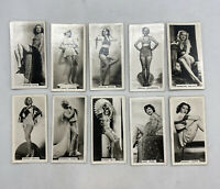 Lot Of 10 1939 Carreras Film And Stage Beauties Tobacco Cards #20 To #29 Run