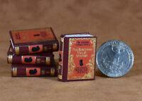 MINIATURE BOOK, DOLLHOUSE BOOK  dollhouse-size Sherlock Holmes 1-4