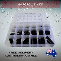 360 Pc Metric Roll Pin assortment grab kit Australian Stock M2 - M10 sizes.