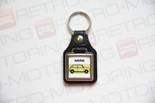 Classic Mini Clubman Keyring - Leatherette British Retro Classic Car Keytag