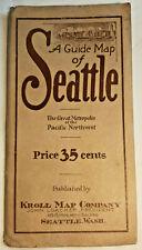 1924 GUIDE MAP SEATTLE KROLL MAP Co Seattle Washington folding map city map