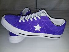 Converse One Star OX Suede Shoes Purple 161239C New + FREE SHIPPING!