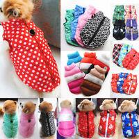 Haustier Kleidung Hunde Winter Warmer Weste Hundejacken Reißverschluss Mantel