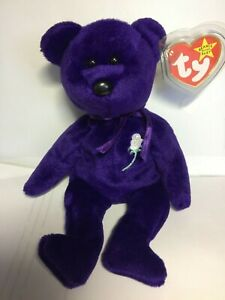 1st Edition 1997 TY Princess Diana Beanie Baby, Made in China, P.E Pellets,error