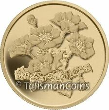 Canada 2011 Mountain Avens Northwest Territories $350 .99999 Pure Gold Proof