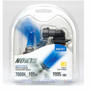 Nokya 9005 Arctic White Stage 2 Headlight Halogen Light Bulb for Acura High Beam