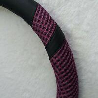 """BOKIN Steering Wheel Cover Breathable Anti-Slip 15"""" Purple Black All Weather"""