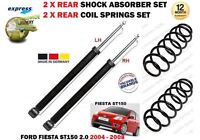 FOR FORD FIESTA 2.0 ST150 2005-2008 2x REAR SHOCK ABSORBER SET + 2x COIL SPRINGS