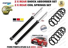 PER FORD FIESTA 2.0 ST150 2005-2008 2x Ammortizzatore post. Set + 2x SERPENTINA