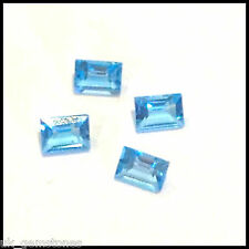 Natural Swiss Blue Topaz Baguette Cut  0.23ct  VSI, Single Stone