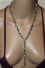 BaubleBar Ynez Y-Chain Necklace Pink Blue Sexy Sparkly Crystals New Retails Rare