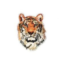 Royal Regal Gold Brown Tiger (Iron On) Embroidery Applique Patch Sew Iron Badge