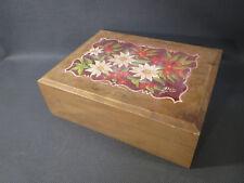 Antica scatola in legno tipo per gioielli souvenir La Rochette Savoia vintage
