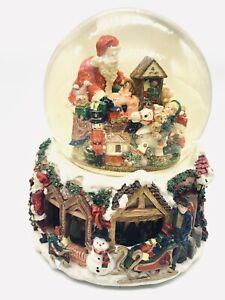 "Kirkland Christmas Musical Water Globe Revolving Base ""Here Comes Santa Claus"""