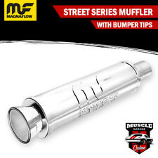 """14810 - 2.25"""" Inlets/ 3.5"""" Outlet 4""""Round x 14""""Long - Stainless Magnaflow Muffle"""