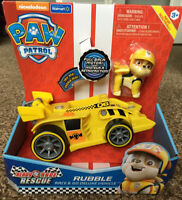 PAW Patrol Ready Race Rescue Rubble's Race & Go Deluxe Vehicle with Sounds NEW