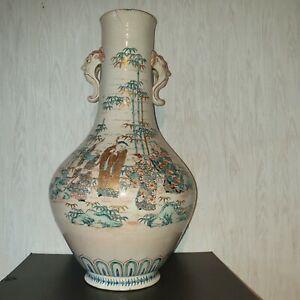Large Antique Museum Quality Japanese Meiji Vase