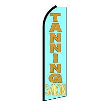 Tanning Salon Advertising Flutter Feather Sign Swooper Banner Flag Only
