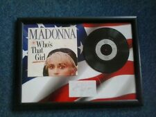 MADONNA - WHO'S THAT GIRL Framed Vinyl Single With Facsimile Autograph