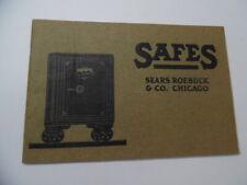 c.1913 Sears Roebuck Vulcan Safe Catalog Fireproof Burglar Antique Original BIG