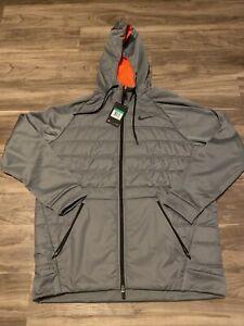 Nike Therma Dri-Fit Hoodie Jacket Grey 864103-065 Mens Size XL
