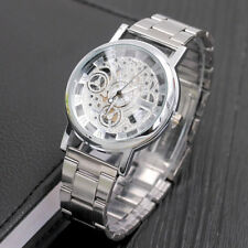 Fashion Men's Metal Band Stainless Steel Hollow Pattern Quartz Wrist Watch Color
