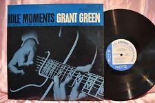 Grant Green 'Idle Moments' LP Blue  Note 'Ear Mark' Van Gelder