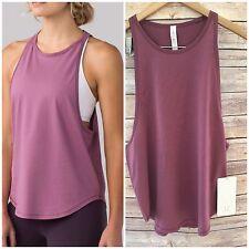 ❤️Nwt Lululemon Sweat Date Singlet Figue Pink 8 Medium Speed Top Tank Yoga Run S