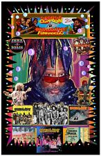 """George Clinton 11x17"""" TRIBUTE poster -Vivid Colors -Deep Blacks-Signed by Artist"""