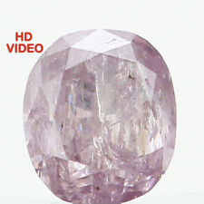 Natural Loose Diamond Purple Pink Color Cushion I2 Clarity 3.50 MM 0.17 CT N7105