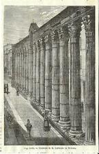Stampa antica MILANO Colonne di San LORENZO 1889 Old antique print