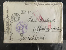 1918 Kurume Japan German WW 1 POW prisoner of war to Germany Cover w/letter